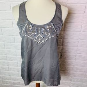 😊 Eyeshadow Sleeveless Top Size Small Shirt Gray